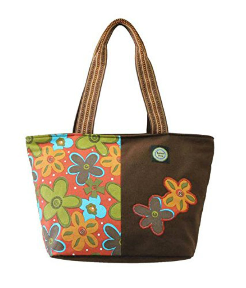 Anekaant Flora Canvas Shoulder Bag