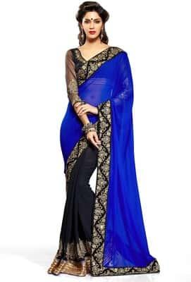 Bhuwal Fashion Pure Georgette Saree