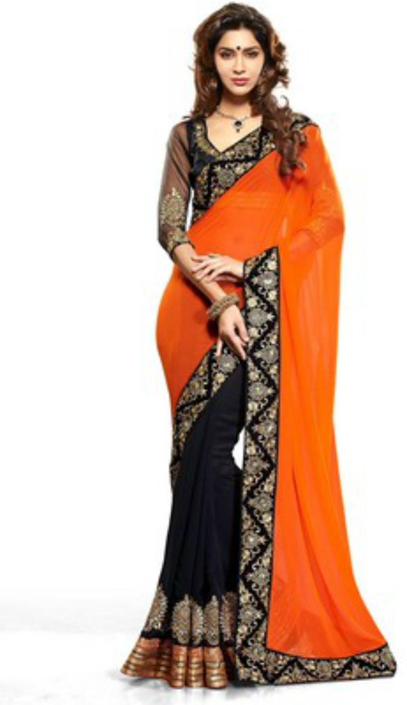 Bhuwal Self Design Fashion Georgette Saree