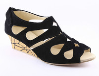 Cenizas Collage Fly Stylish Black Wedges