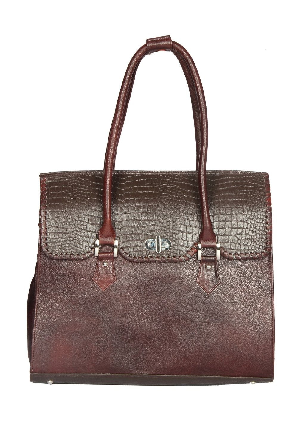 Chanter Dark Brown Genuine Leather Women