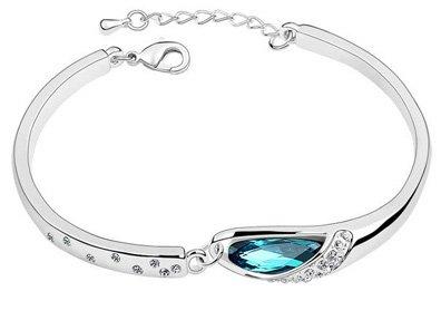 Cyan Charming Crystal Bracelet Alloy Bracelet