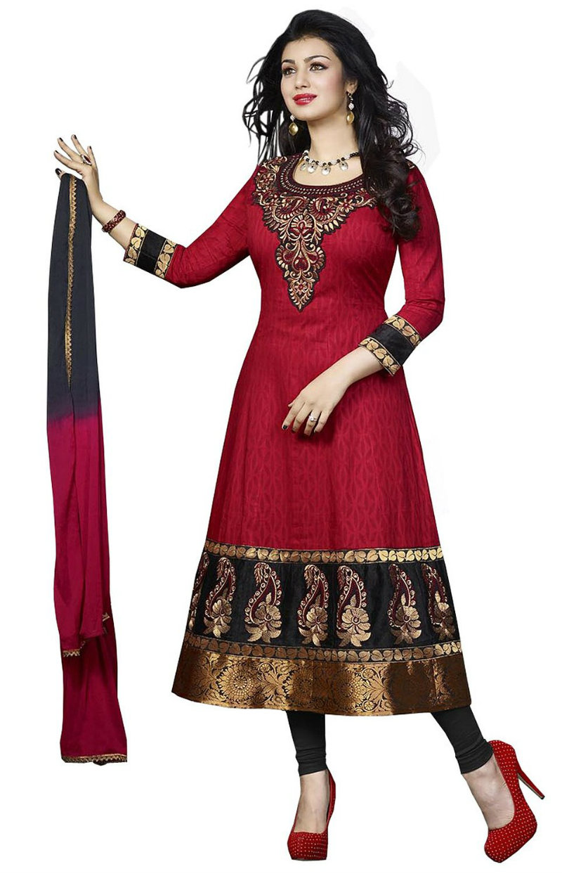 Divyaemporio Cotton Anarkali Unstitched Dress Material