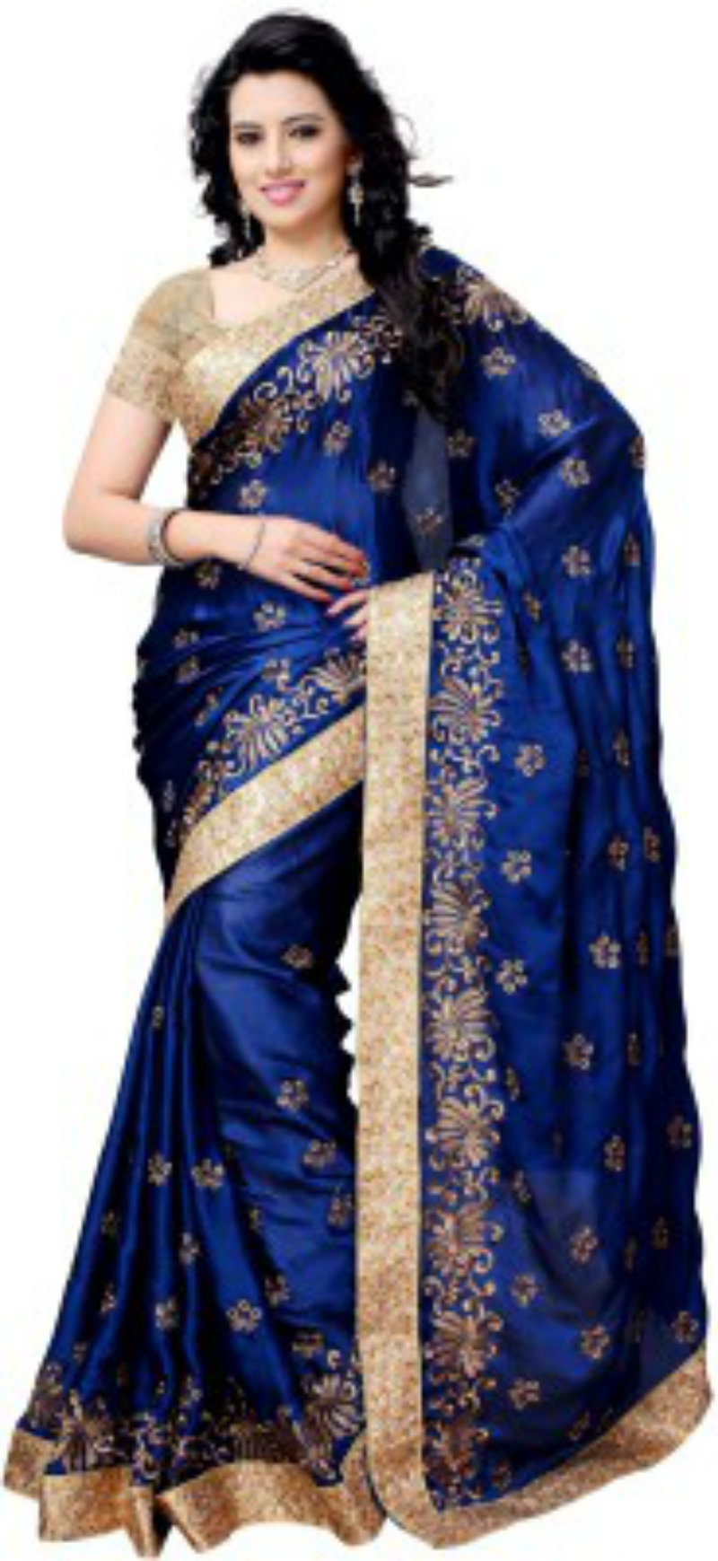 Four Seasons Embroidered Party Wear Saree