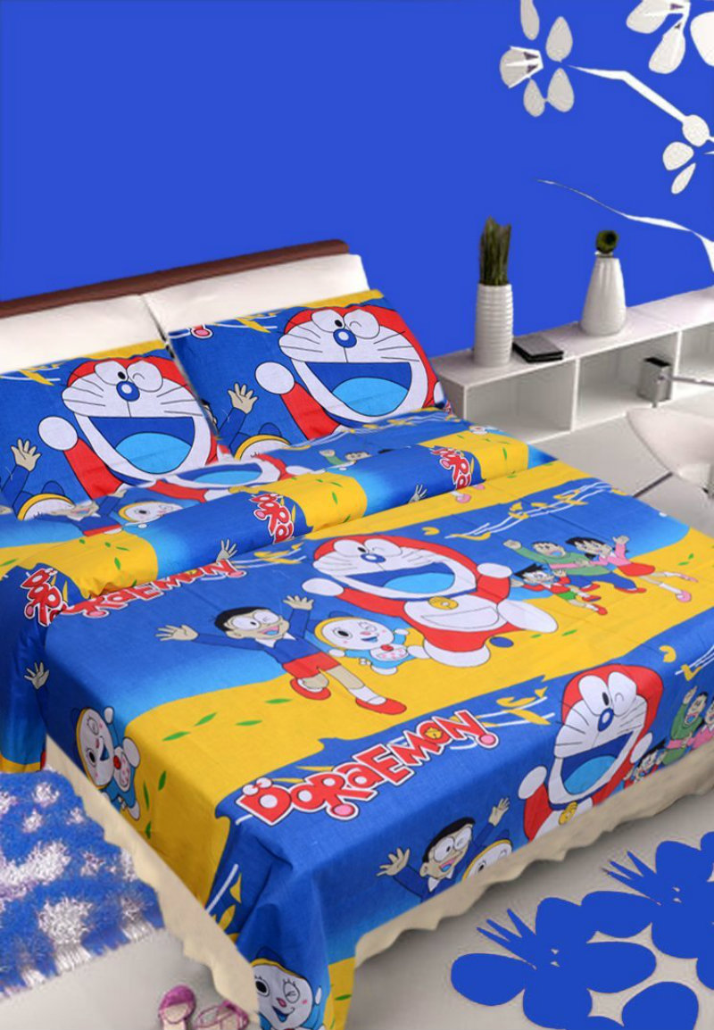 IWS Doraemon Double Bed Sheet