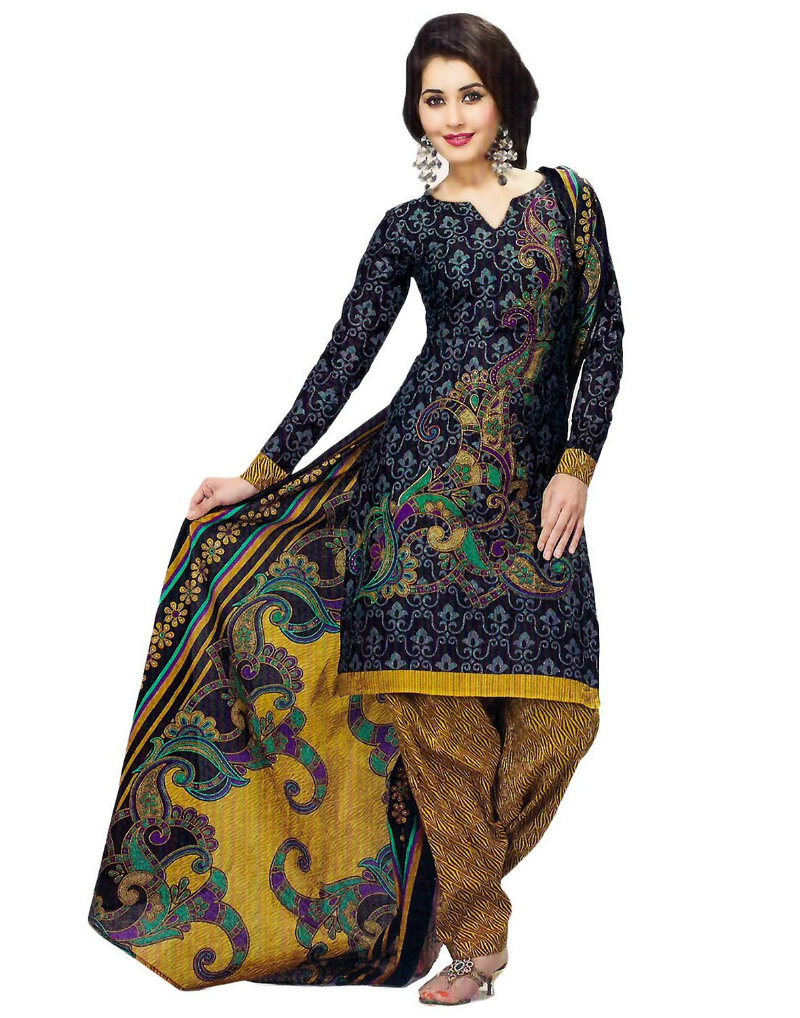 Jevi Prints Cotton Printed Salwar Suit
