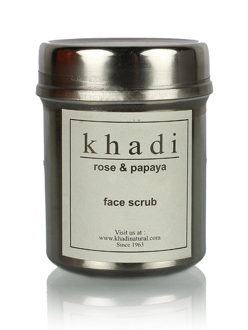 Khadi Rose & Papaya Face Scrub