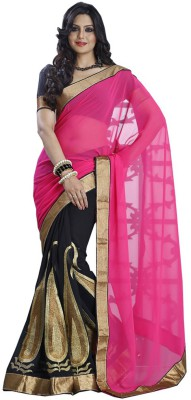 Krishna Fab Self Design Fashion Handloom Chiffon Sari