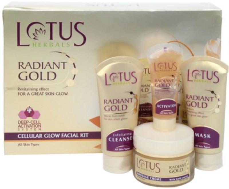 Lotus Herbal Radiant Gold Cellular Glow Facial Kit