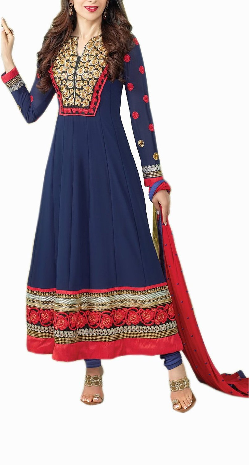 Mrig Women Semi Stitched Anarkali Suit