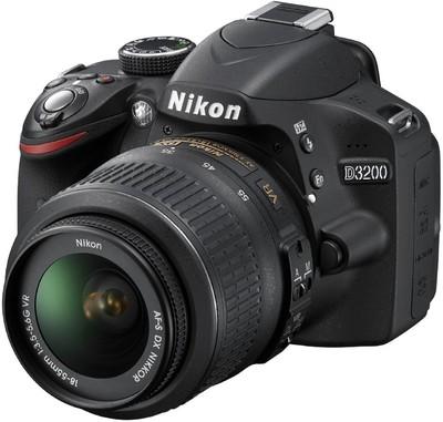 Nikon D3200 DSLR Camera Black