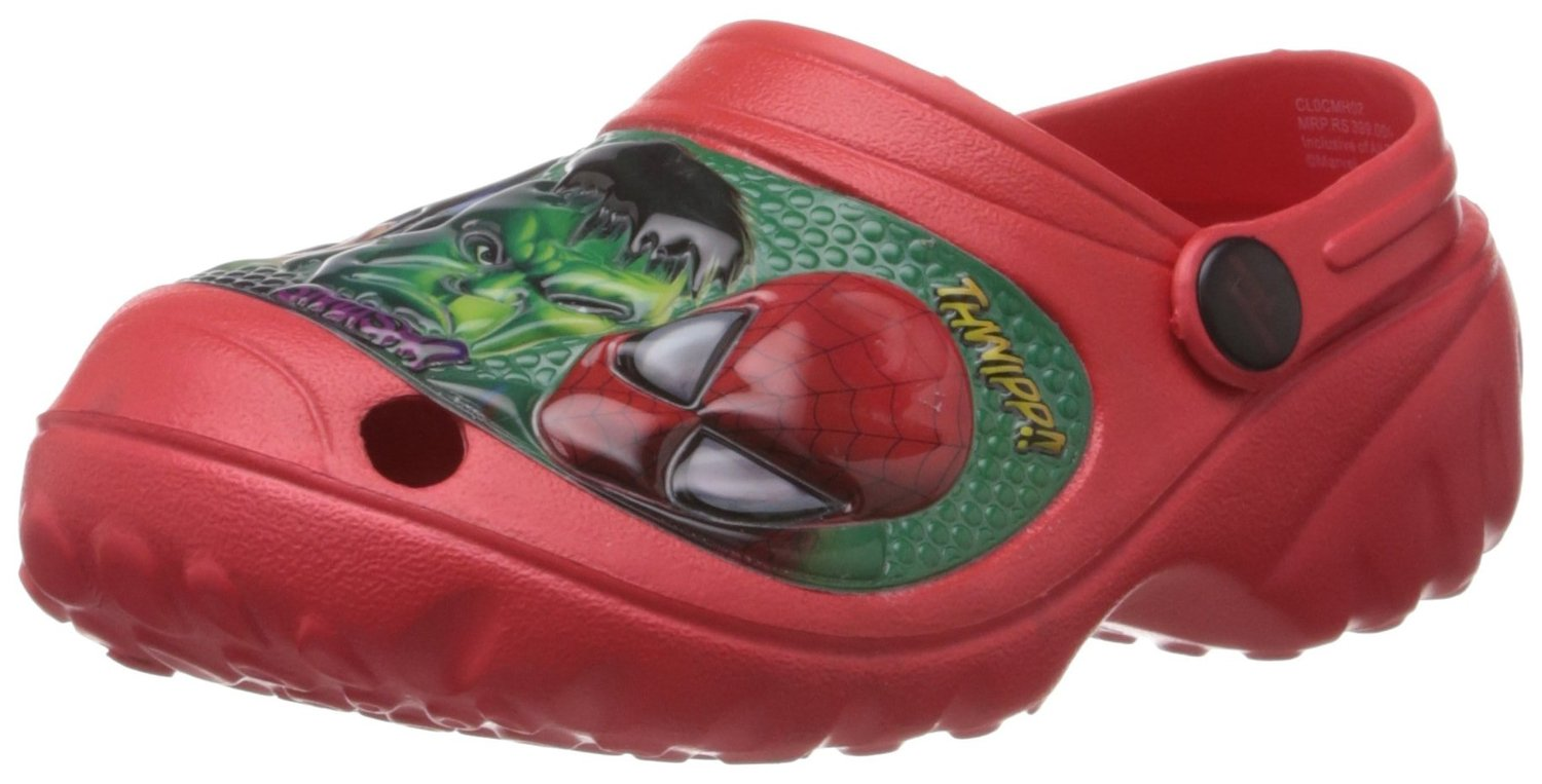 Red Spiderman Clogs for Boys