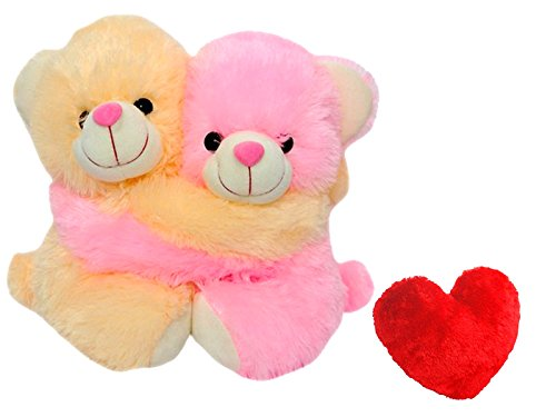 Saugat Traders Romantic Couple Teddy Bear with Red Heart