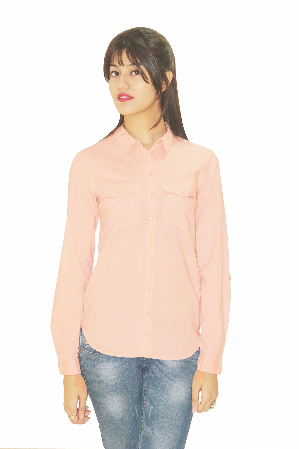 Silly People Womens Pink Casual Shirt