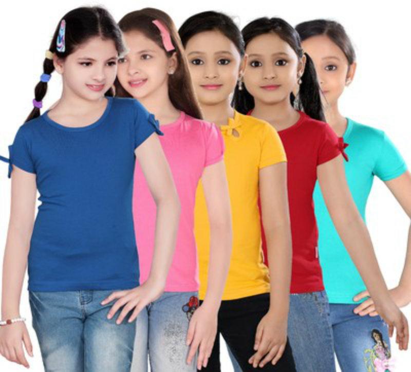 Sinimini Casual Girl's Short Sleeve Top