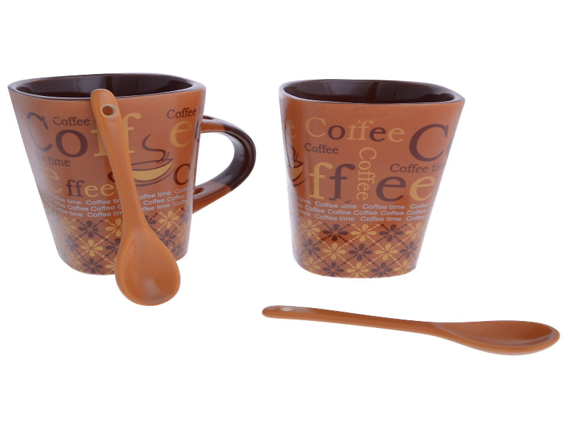 Tanyash Light Brown Coffee mug with spoon