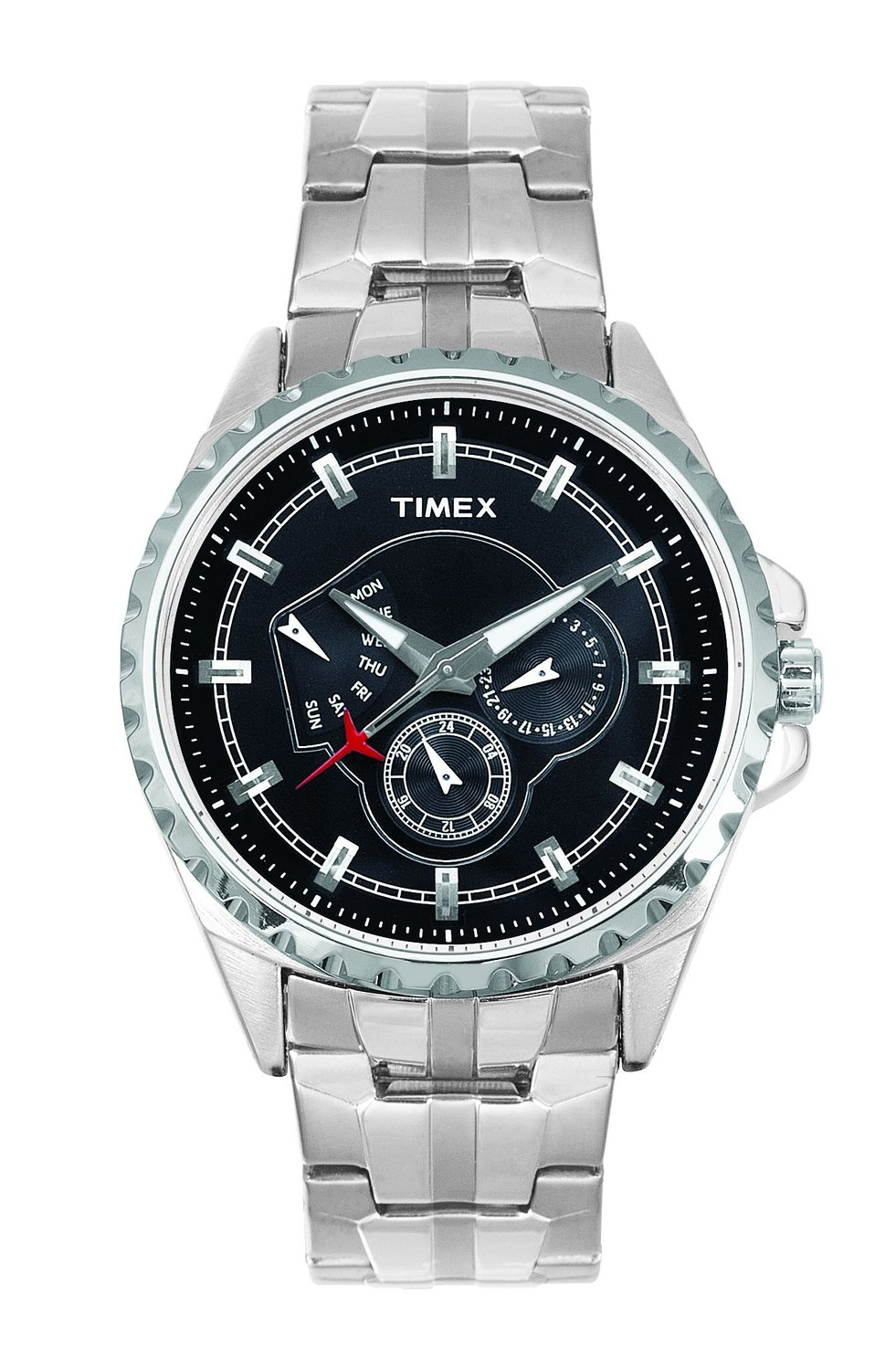 Timex E Class Retrograde Analog Black Dial Men