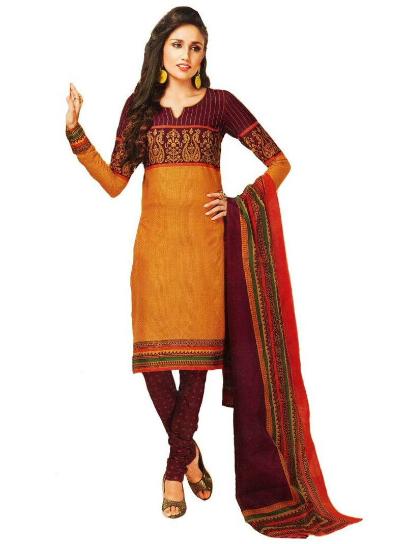 Vaamsi Polyester Cotton Salwar Kameez
