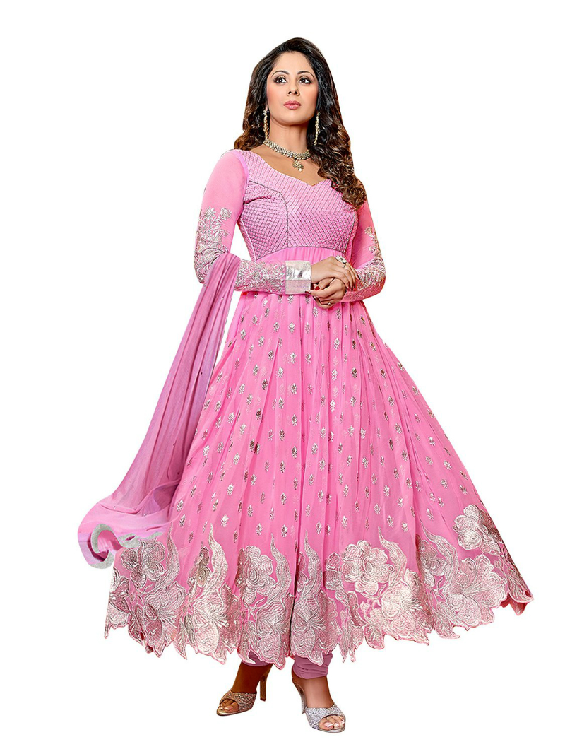 Vibes Women Georgette Salwar Suit Dress Material