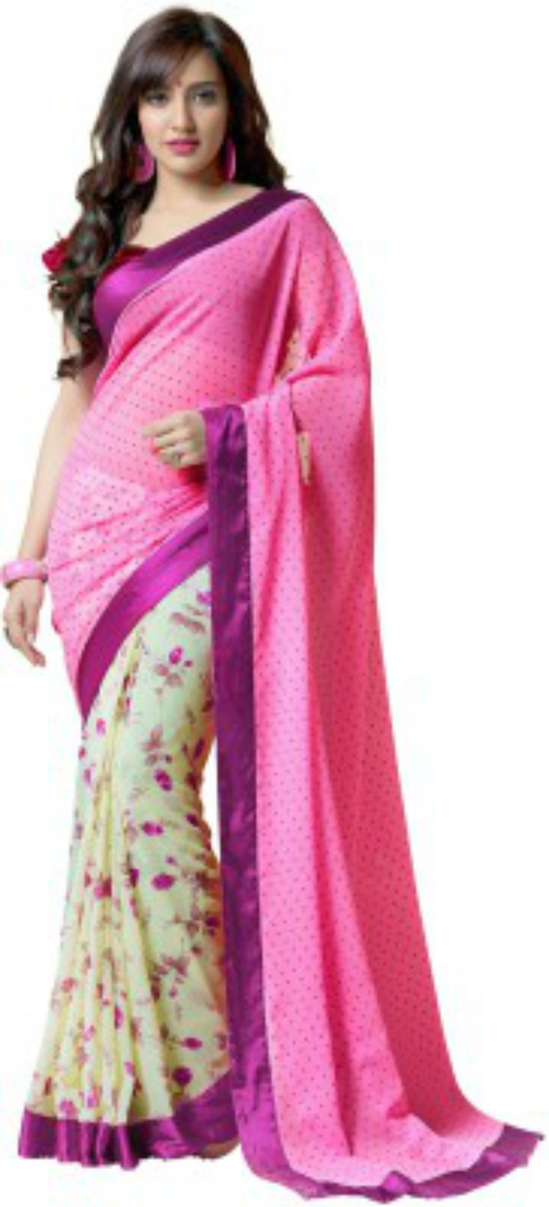 Vonage Floral Pure Georgette Sari