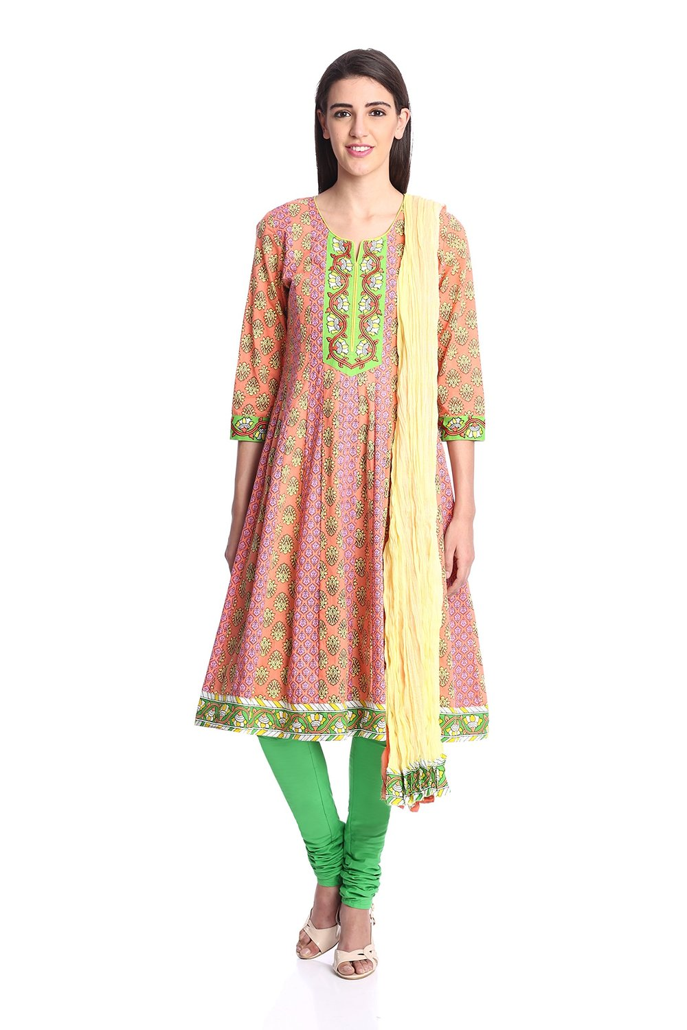 Womens Anarkali Salwar Suit, Rain and Rainbow Salwar Suit